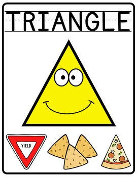 2D Shapes Poster with pictures