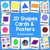 2D Shapes Posters, Cards and Anchor Chart: Ideal for Math Word Wall