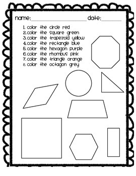 2D Shapes - Posters, Book, & Worksheet