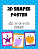 2D Shapes Posters (English-Indonesian Vocabulary)