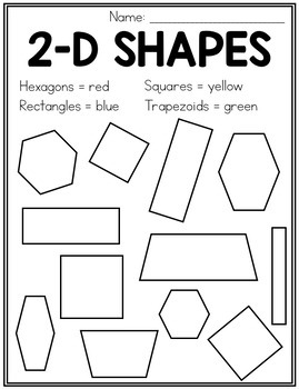 2D Shapes - Posters and Activities