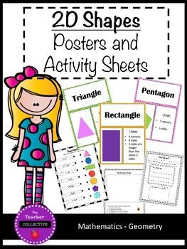 2D Shapes: Posters and Activity Sheets