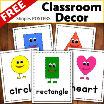 2D Shapes Posters for Classroom Decor FREE