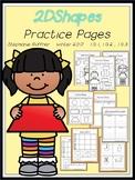 2D Shapes Practice Pages