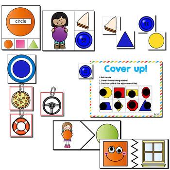 2D Shapes | Pre-K/Preschool Math Centers