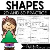 2D Shapes Print & Practice {freebie}