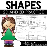 2D Shapes Print & Practice {freebie}