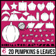 2D Shapes: Pumpkins and Leaves