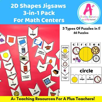 2D Shapes Puzzles {Features & Attributes}