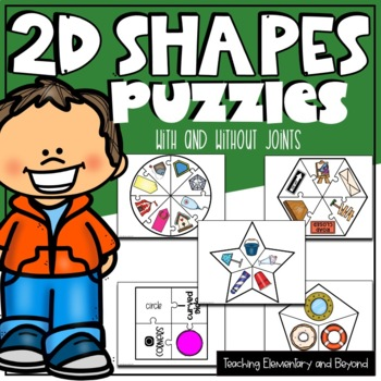 2D Shapes {Puzzles & Graphing Activities}