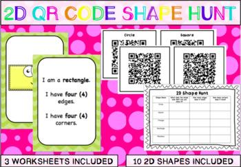 2D Shapes QR Code Hunt