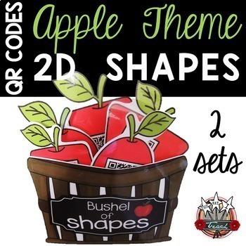 2D Shapes QR Codes:  Apple Theme