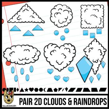 2D Shapes: Raindrop Clip Art
