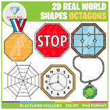 2D Shapes Real Life Objects Clip Art: Octagons