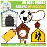 2D Shapes Real Life Objects Clip Art: Pentagons