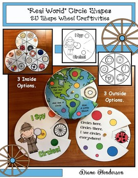 "2D Shapes: ""Real World"" CIRCLE Shapes Wheel Craftivities"
