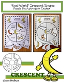 """2D Shapes """"Real World"""" CRESCENT Puzzle Pie Activity & Center Game"""