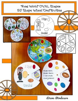 """2D Shapes: """"Real World"""" OVAL Shapes Wheel Craftivities"""