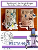 "2D Shapes: ""Real World"" RECTANGLE Puzzle Pie Activity & Ce"