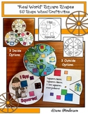 """2D Shapes: """"Real World"""" SQUARE Shapes Craft Wheel"""