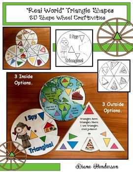 """2D Shapes: """"Real World"""" TRIANGLE Shapes Wheel Craftivities"""
