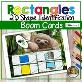 2D Shapes Rectangles Digital Game   Boom Cards   Distance