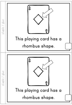 2D Shapes Rhombus Emergent Reader