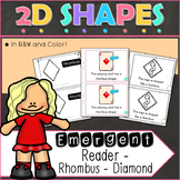 2D Shapes Rhombus Emergent Reader
