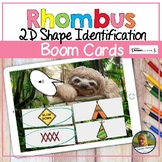 2D Shapes Rhombuses Digital Game   Boom Cards   Distance Learning