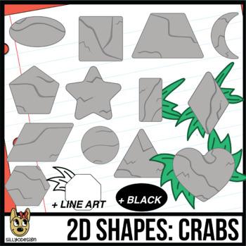 2D Shapes: Rocks Clip Art