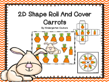 2D Shapes Roll And Cover Carrots
