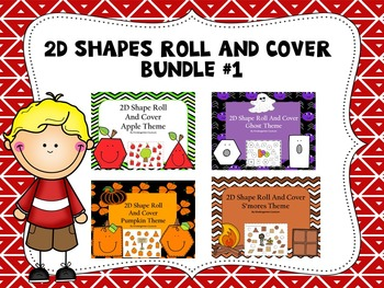 2D Shapes Roll and Cover Bundle 1