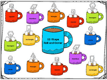 2D Shapes Roll and Cover -Hot Chocolate