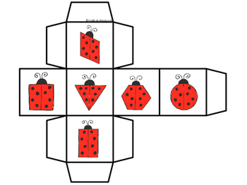2D Shapes Roll and Cover -Ladybugs