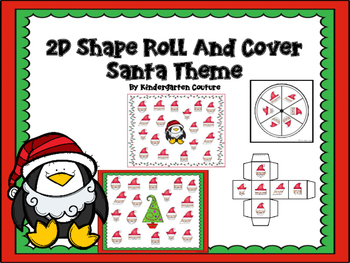 2D Shapes Roll and Cover -Santa