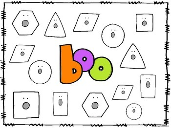 2D Shapes Roll and Cover (or Bump) -Ghost