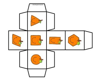 2D Shapes Roll and Cover (or Bump) -Pumpkin