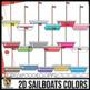 2D Shapes: Sails & Sailboat Clip Art