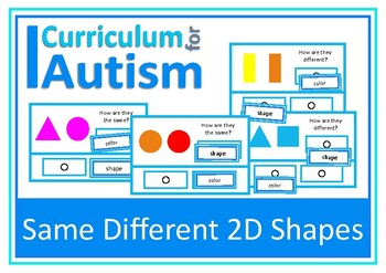 Autism, Same Different 2D Shapes, Thinking Skills, Special