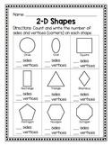 2D Shapes - Sides and Vertices