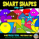 2D Shapes (Smart Shapes) Clip Art for Teachers