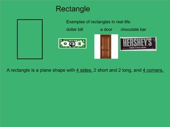 2D Shapes Smartboard Presentation