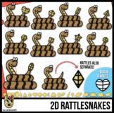 2D Shapes: Snakes Clip Art | Rattlesnakes & Rattles