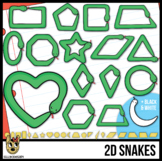 2D Shapes: Snakes Clip Art | Great for Modeling Clay