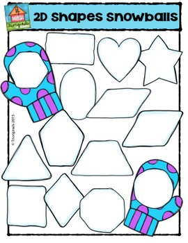 2D Shapes Snowballs  {P4 Clips Trioriginals Digital Clip Art}G