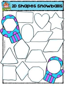 2D Shapes Snowballs  {P4 Clips Trioriginals Digital Clip Art}G