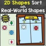 2D Shapes Sort Digital Boom Cards Distance Learning