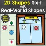 2D Shapes Sort Digital Boom Cards Distance Learning