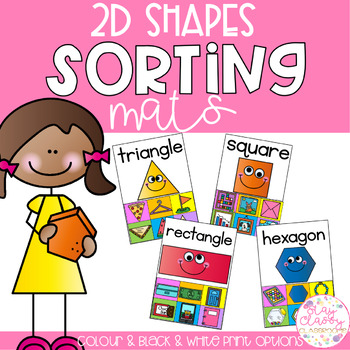 2D Shapes Sorting Mats