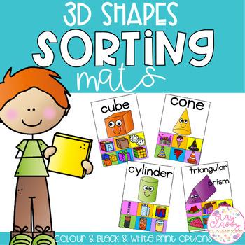 3D Shapes Sorting Mats